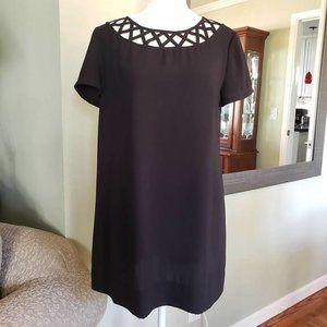 """""""Like New* Statement Collar Mini Dress"""